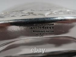 Tiffany Flask 10035 Antique Classical Wrestlers American Sterling Silver