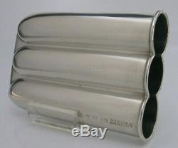 Unusual Sterling Silver Desk Cigar Holder Case Victorian 1897 Sydenhams Patent
