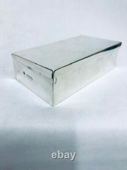 VICTORIAN SILVER SANDWICH BOX LONDON 1896 by W & G Neal
