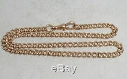 Victorian 15ct Solid Gold Double Albert Pocketwatch Chain Heavy 29.1g