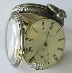 Victorian (1875) Solid Silver Johnson Ground (Wigan) Fusee Pocket Watch Working