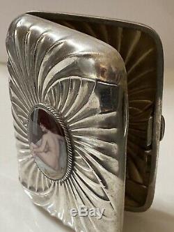 Victorian 1890 Solid Silver Erotic Cigarette Case Birmingham H. C. F 94.8g