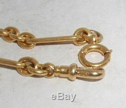 Victorian 18ct Solid Gold Double Albert Pocketwatch Chain Heavy 50.5g