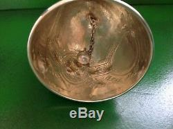 Victorian Antique English Sterling Silver Table Bell 1873