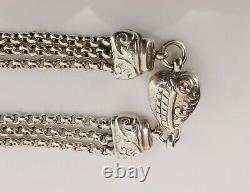 Victorian Antique Silver Albertina Pocket Watch Chain with Tassel. NICE1