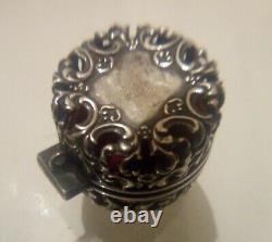 Victorian Antique Silver Chatelaine Pin Cushion. Hallmarked
