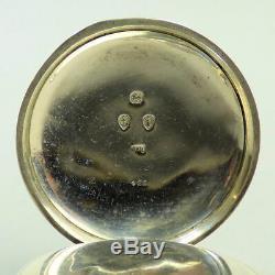 Victorian Antique Silver Waltham Movement Pocket Watch Birmingham 1883 G. W. O