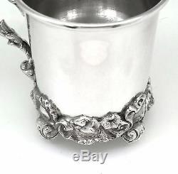 Victorian Antique Solid Silver Christening Mug / Tankard London 1844