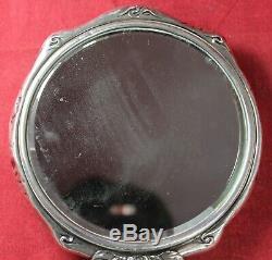 Victorian Art Nouveau Sterling Silver Hand Mirror Vintage STUNNING