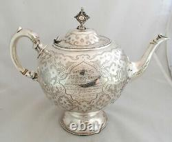 Victorian Gothic Silver Teapot Henry Holland London 1868 747g A602017