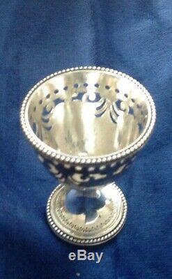 Victorian Hallmarked Solid Silver 6 Egg Cup Cruet & Spoons By Barnard & Son 1872