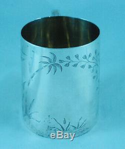 Victorian Indian Colonial Silver Aesthetic Mug Arlington & Co Calcutta 125g
