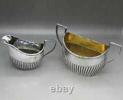 Victorian Lovely Solid Sterling Silver Bachelors 3ps Tea Set N&h Birmingham 1888