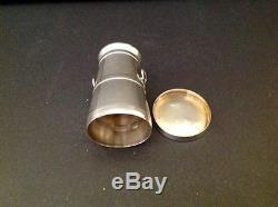 Victorian Novelty Milk Churn Antique English Sterling Silver Salt Pepper