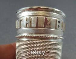 Victorian Novelty Sterling Whiskey Measure. Birm 1890 Just A Thimbleful! Cased