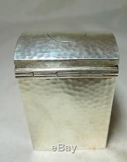 Victorian SIlver Playing Card Case Henry Matthews Birmingham 1900 A593617