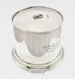 Victorian STERLING SILVER TOBACCO / BISCUIT JAR London 1891