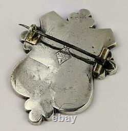 Victorian Scottish Silver & Agate Shield Pebble Brooch 1867 Kite Mark