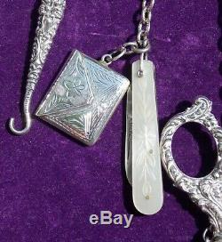 Victorian Silver 19th Century Antique Chatelaine