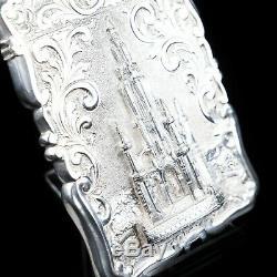 Victorian Silver Card Case Castle Top Scott Monument Frederick Marson 1856