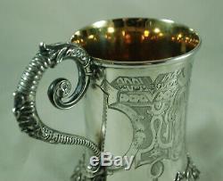 Victorian Silver Christening Mug Joseph Angell I London 1851 230g BDZX