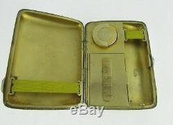 Victorian Silver Combination Sovereign, Vesta & Cigarette Case, Birmingham 1897