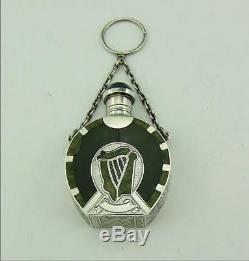 Victorian Silver, Connemara Marble & Agate Scent Perfume Bottle -irish Design