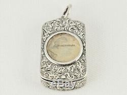 Victorian Silver Fob Case & Miniature Dictionary By Sampson Mordan & Co Hm 1893