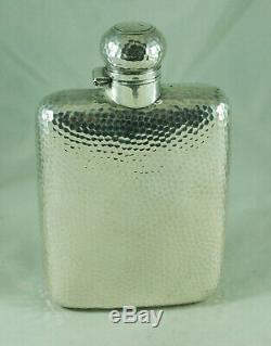 Victorian Silver Hip Flask William Neale Birmingham c1892 242g BAZX009