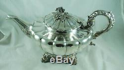 Victorian Silver Teapot Francis David Dexter London 1848 810g DABZX