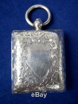 Victorian Silver Vinaigrette, Hallmarked Birmingham 1896 By Henry Williamson