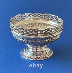 Victorian Solid Silver Bon Bon Dish/Bowl 1893 Josiah Williams & Co