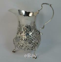Victorian Solid Silver Cream or Milk Jug with Rococo Design
