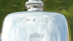 Victorian Solid Silver Hip Flask c. 1886(R3063P)