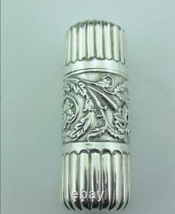 Victorian Solid Silver Perfume Bottle George Unite