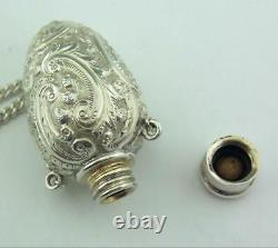 Victorian Solid Silver Perfume Bottle George Unite 1889