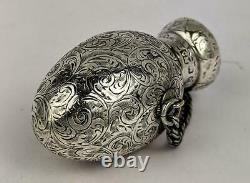 Victorian Sterling Silver Chatalaine Scent Bottle 1887