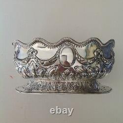 Victorian Sterling Silver Rose Bowl, Bonbon bowl, London, 1883 Martin Hall
