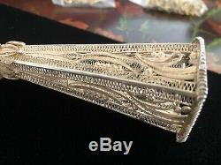 Victorian Sterling Silver Tussie Mussie Posey Nosegay Posy Holder, Porte Bouquet