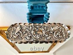 Victorian Sterling Silver William Comyns pin tray wonderful