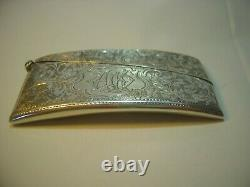 Victorian Stunning Craftsmanship Solid Silver Buisness Card Holder-rare-1904