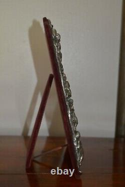 Victorian Style Cherub Sterling Silver Dressing Table Mirror Hallmarked 1993