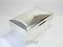 Vintage Art Deco Solid Silver Sterling Cigar Box, Cigarette Box Birmingham 1926