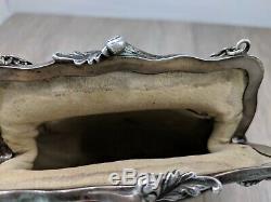 Vintage Victorian Chatelaine Purse Sterling Silver Medusa Dragons Vines Ca. 1900