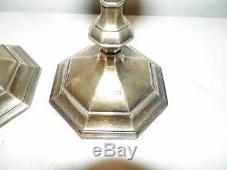 Vintage Victorian Goldsmith Silversmiths Sterling Silver Candlesticks 8 1/4