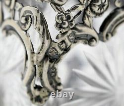 William Comyns PIERCED silver mounted SCENT PERFUME BOTTLE. FIGURES 5.25.1893