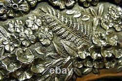 10 Sterling Silver Antique S. Kirk & Son Oval Bowl Repousse Floral Trim 310g