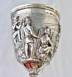 1867 Argent Somerset Rifle Bénévoles Trophée Goblet. Sir Peregrine Acland Bt