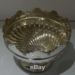 19ème Siècle Antique Victorienne En Argent Sterling Rose Bowl Londres 1898 Elkington