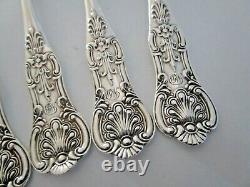 5 Motif Queens Victorienne Teaspoons Silver, Exeter 1881
